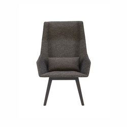 Elsa | High Armchair Base Anthracite-Stained Beech | Armchairs | Ligne Roset