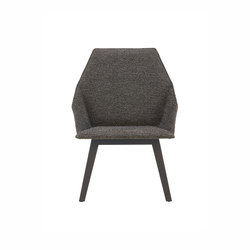 Elsa | Low Armchair Base Anthracite-Stained Beech | Armchairs | Ligne Roset