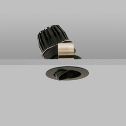 Polespring 40 Black Narrow 3000K | Lampade soffitto incasso | John Cullen Lighting