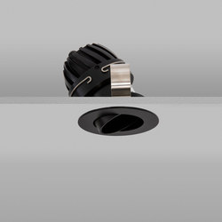 Polespring 50 Black Wide 2700K | Plafonniers encastrés | John Cullen Lighting