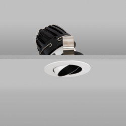 Polespring 50 White Narrow 2700K Flush Plaster-in | Lampade soffitto incasso | John Cullen Lighting