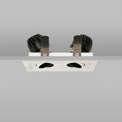 Square Double Trim 50 RAL Match Medium 2700K | Lampade soffitto incasso | John Cullen Lighting