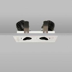 Square Double Trim 50 White Wide 2700K | Deckeneinbauleuchten | John Cullen Lighting