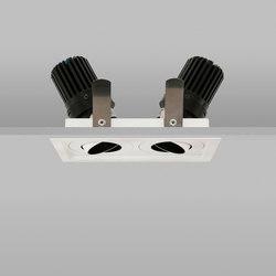 Square Double Trim 50+ White Medium 3000K | Deckeneinbauleuchten | John Cullen Lighting