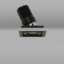 Square Trimless 50+ Black Medium 2700K | Recessed ceiling lights | John Cullen Lighting