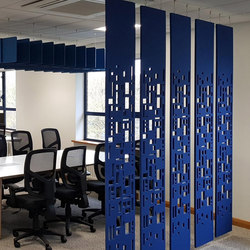 Freestyle - Freestyle Dividers - Acoustic Workplace Dividers - Fins for Office. | Sound absorbing suspended panels | Soundtect