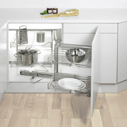 Magic Corner Flex Corner Pull-out | Kitchen organization | peka-system