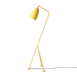 Gräshoppa Floor lamp | Aspen Yellow | Free-standing lights | GUBI