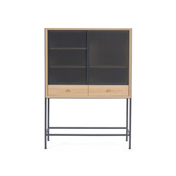Gabin Cabinet, natural oak and slate grey | Aparadores | Hartô