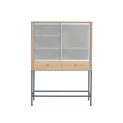 Gabin Cabinet, natural oak and slate grey   Sideboards   Hartô