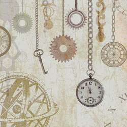 Clock and Keys | Wall coverings / wallpapers | WallPepper