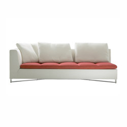 Feng | Large 1-Armed Settee Right Brilliant Chromed Base Complete Item | Sofas | Ligne Roset