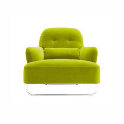 Harry | Armchair Brilliant-Chromed Sleigh Base Complete Item | Armchairs | Ligne Roset