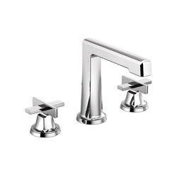 Widespread Lavatory Faucet with High Spout and Low Cross Handles | Wash basin taps | Brizo