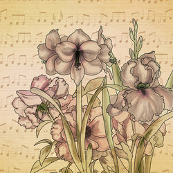 Musical Iris | Wall coverings / wallpapers | WallPepper