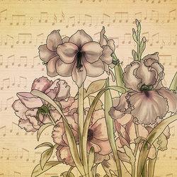 Musical Iris | Carta parati / tappezzeria | WallPepper