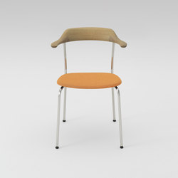 Hiroshima Arm chair stackable (Cushioned) | Chaises | MARUNI