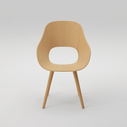 Roundish Armchair (wooden seat) | Chairs | MARUNI
