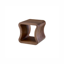 One Shape | Sofa End Table American Walnut | Side tables | Ligne Roset