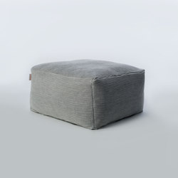 Accessories | Site Soft Checks Outdoor pouf | Poufs | Warli