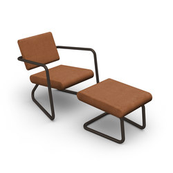 Steeler armchair with ottoman | Poltrone | Lonc