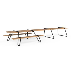 Clip-board 550, picnic double extended | Tavoli e panche | Lonc