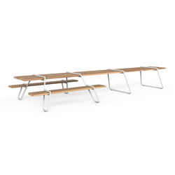 Clip-board 550, picnic double extended | Tables and benches | Lonc
