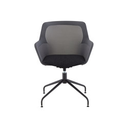 Piccione | Carver Chair Central Pedestal - Anthracite Metal | Chairs | Ligne Roset