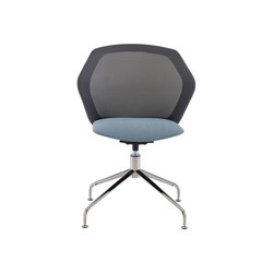 Piccione | Desk Chair Central Pedestal - Brilliant Chrome | Chairs | Ligne Roset