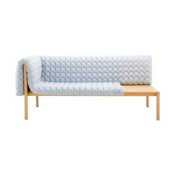 Ruché | 1-Armed Settee Right With Table Surface | Sofas | Ligne Roset