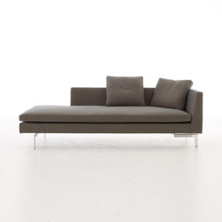 Stricto Sensu Contract | Large Chaise Longue Arm Left Aluminium Base Complete Item | Recamieres | Ligne Roset