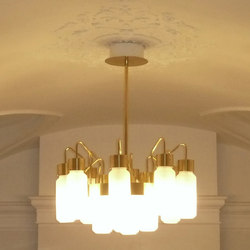 Gold Bespoke Chandelier | Suspended lights | YDF