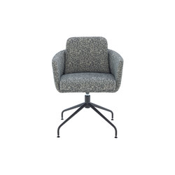 Tadao | Carver Chair Central Pedestal - Anthracite Metal | Chairs | Ligne Roset