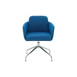 Tadao | Carver Chair Central Pedestal - Brilliant Chrome | Chairs | Ligne Roset