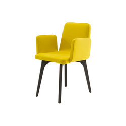 Vik | Carver Chair Black Stained Ash Without Handle | Chairs | Ligne Roset