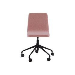 Vik | Silla De Oficina - Sin Asa Patas Negras Con Ruedas | Chairs | Ligne Roset