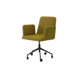 Vik 2 | Carver Chair - Without Handle Black Base On Castors | Chairs | Ligne Roset