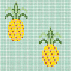 Natural - Pineapple | Glas Mosaike | Hisbalit