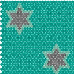 Natural - Estrellas | Mosaicos de vidrio | Hisbalit