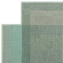 Canevas Geo Rug Green | Formatteppiche | GAN