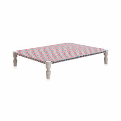Garden Layers Doble Indian bed Tartan blue | Camas de día | GAN