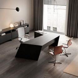 Origami Executive Desk Dark | Scrivanie | Guialmi