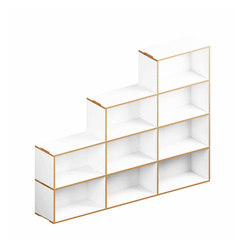 Benji Bookcase 6 stepped | Scaffali | Morfus