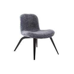 Goose Lounge Chair, Black / Sheepskin: Graphite | Poltrone | NORR11