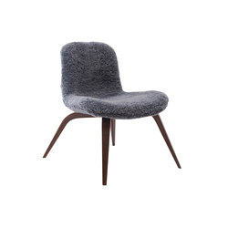Goose Lounge Chair, Dark Stained / Sheepskin: Graphite | Sessel | NORR11