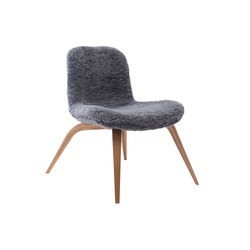 Goose Lounge Chair, Natural / Sheepskin: Graphite | Sillones | NORR11