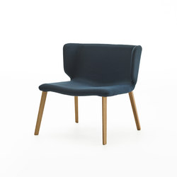 Wrapp Wooden Base | Armchairs | viccarbe