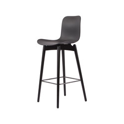 Langue Bar Chair, Black / Anthrachite Black | Taburetes de bar | NORR11