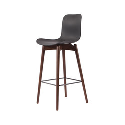 Langue Bar Chair, Dark Stained / Anthrachite Black | Barhocker | NORR11