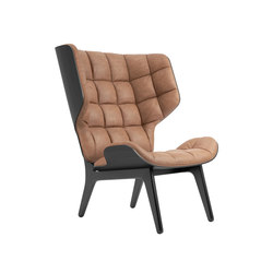 Mammoth Chair, Black / Vintage Leather Camel 21004 | Armchairs | NORR11